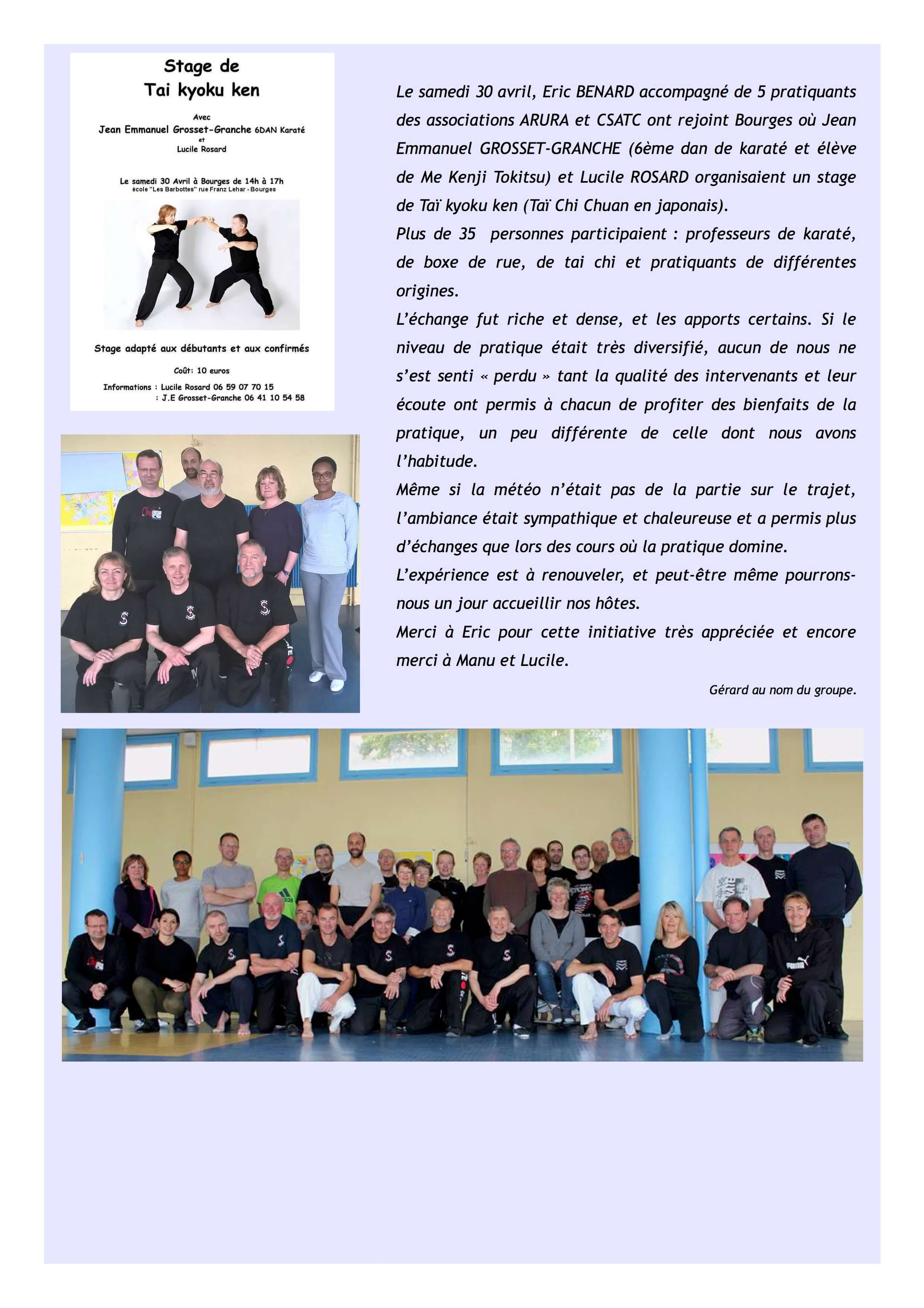 Article TAI CHI 2 Bourges 2016